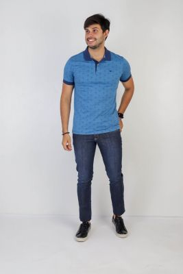 POLO WEST CASUAL JACQUARD SLIM